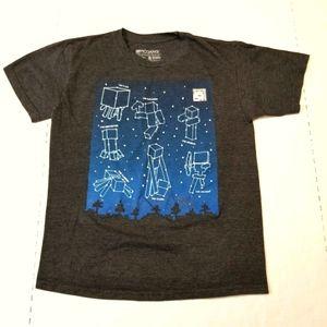 Minecraft Character Constellation L gray tshirt